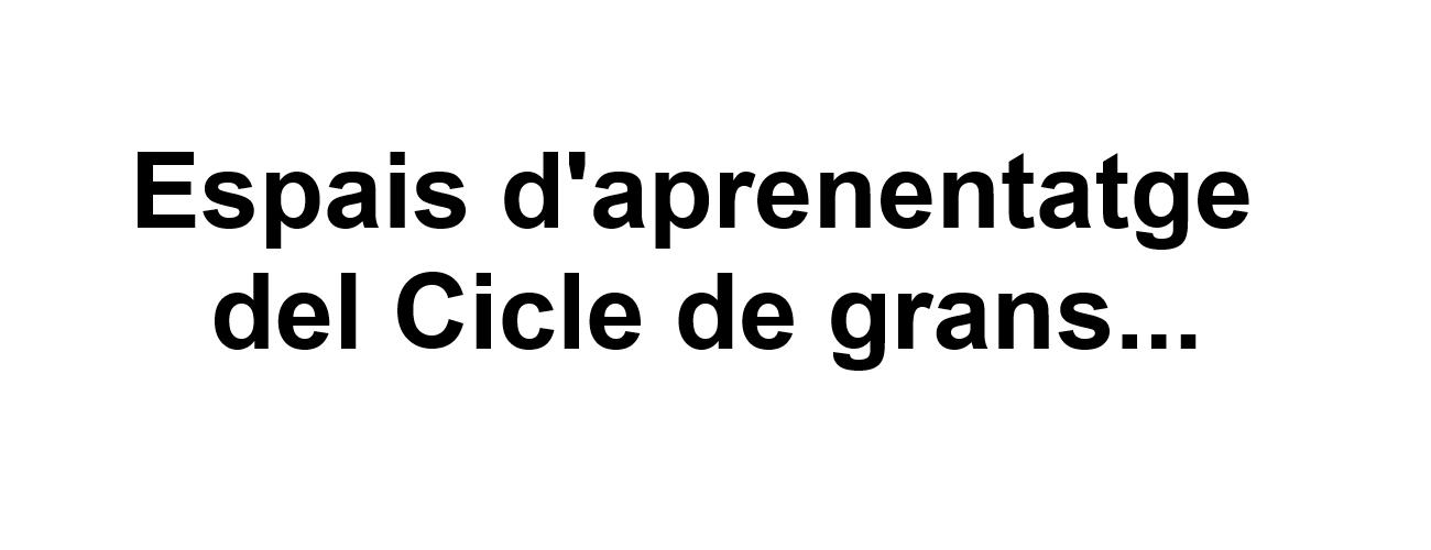 Carrusel Text Espais Cicle de Grans